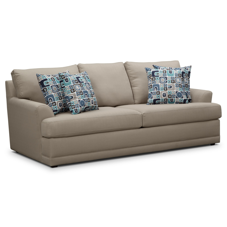 Living Room Furniture - Kismet Sofa - Gray
