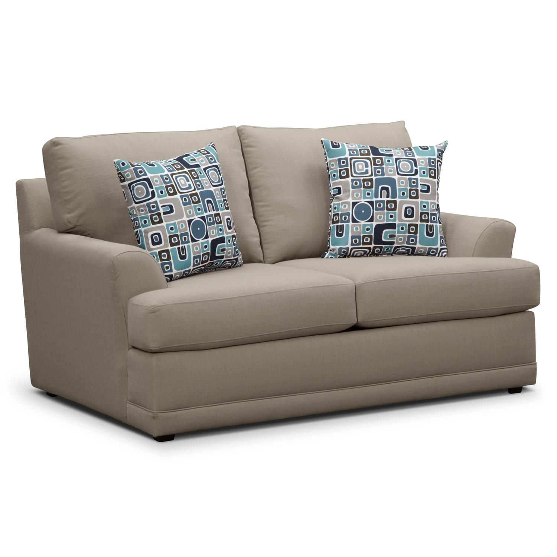 Living Room Furniture - Kismet Loveseat - Gray