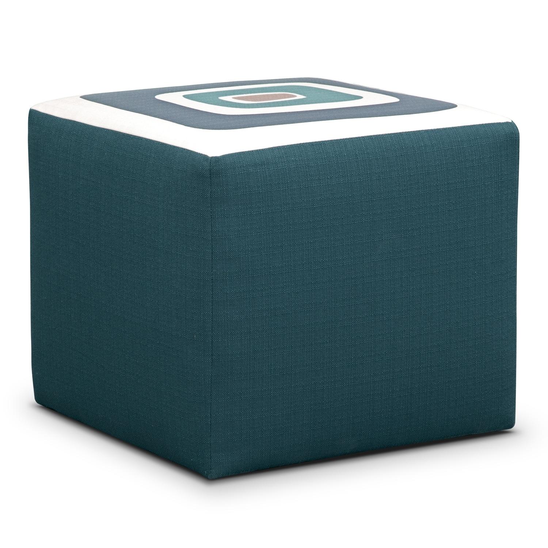 Living Room Furniture - Kismet Cube Ottoman