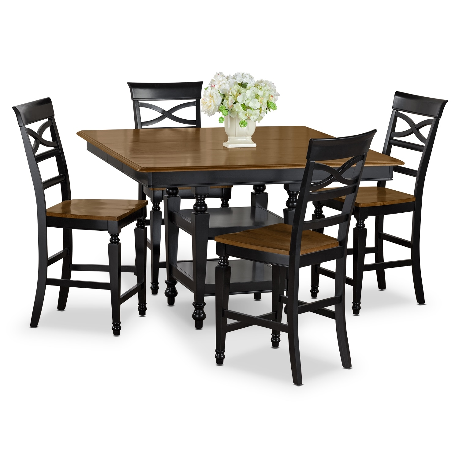 Dining Room Furniture - Chesapeake 5 Pc. Counter-Height Dinette