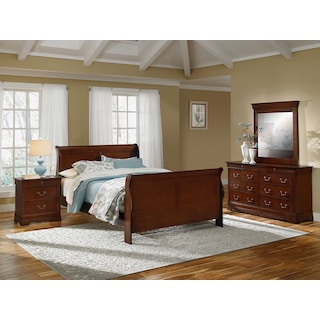 Neo Classic 6-Piece Queen Bedroom Set - Cherry