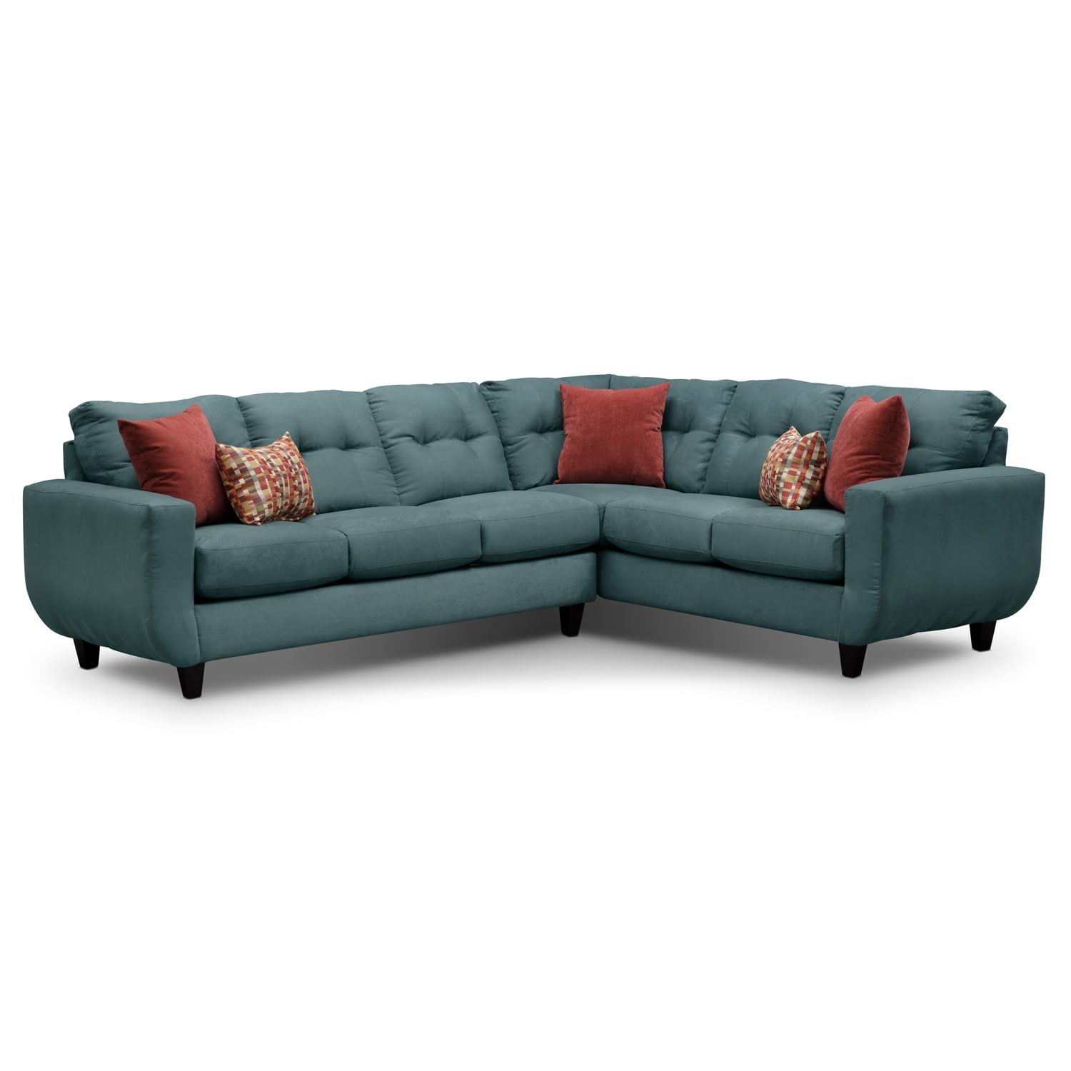 Living Room Furniture - West Village 2-Piece Sectional - Blue