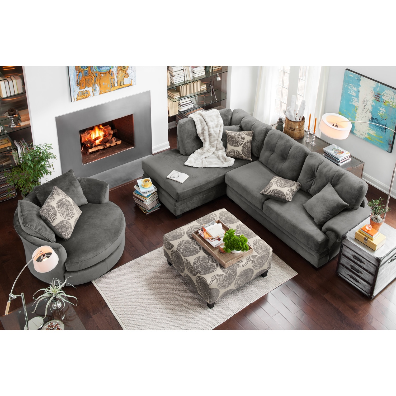 Cordelle 2 Piece Sectional With Chaise American