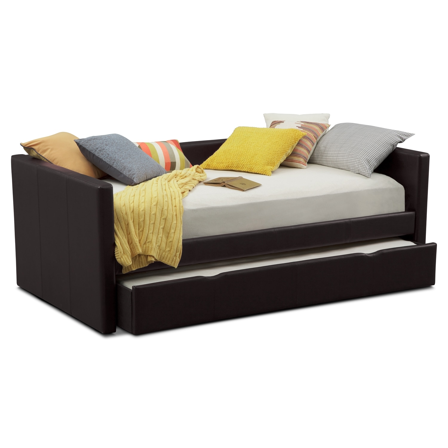 Carey Full Daybed with Trundle - Brown | American Signature Furniture