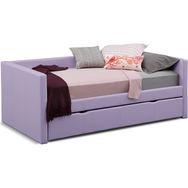 Kids Furniture - Carey Full Daybed with Trundle - Purple