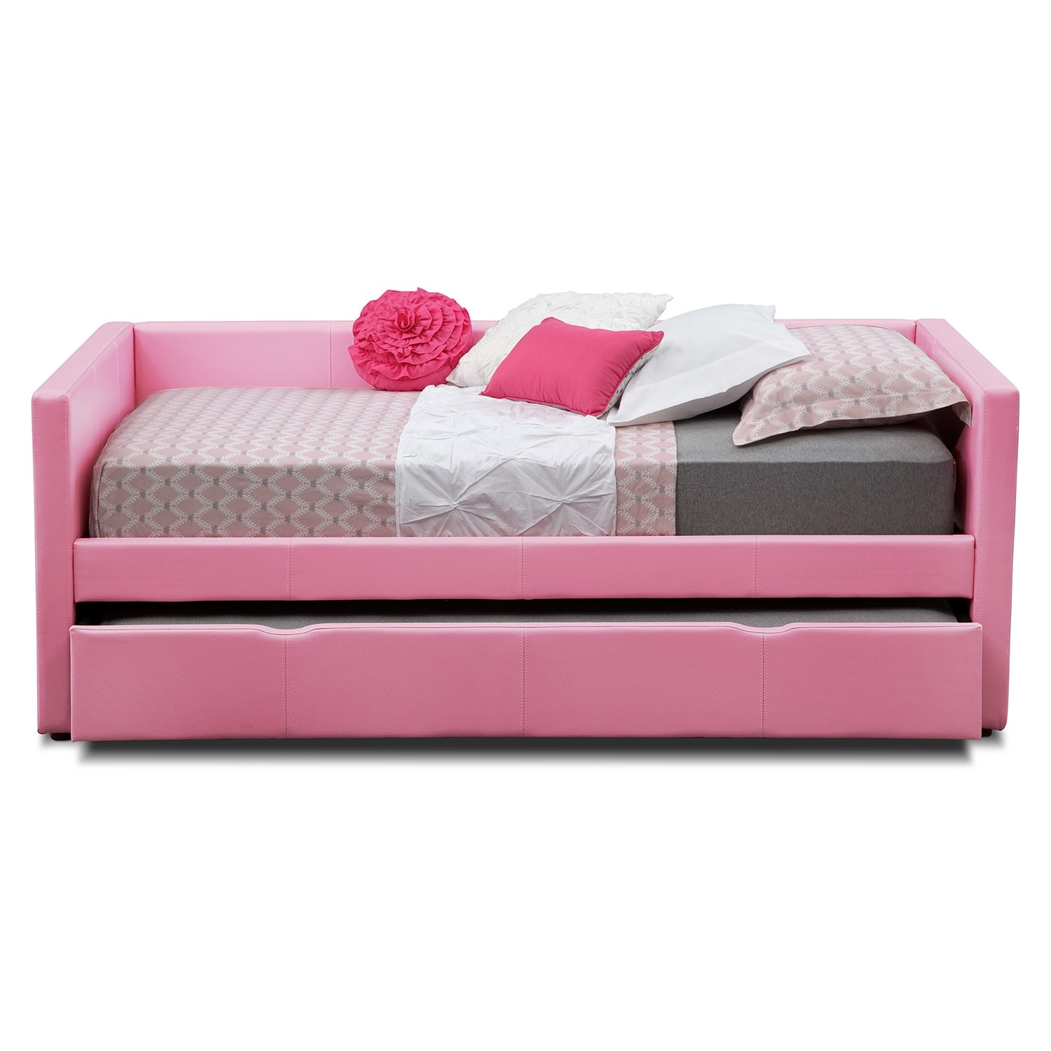 Carey Twin Daybed with Trundle Pink