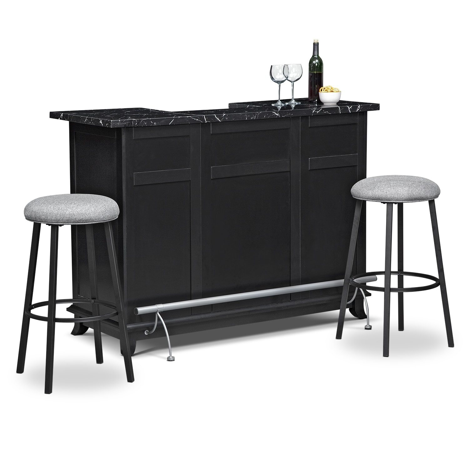 Dining room dinette tables american signature furniture for Rooms to go bar table