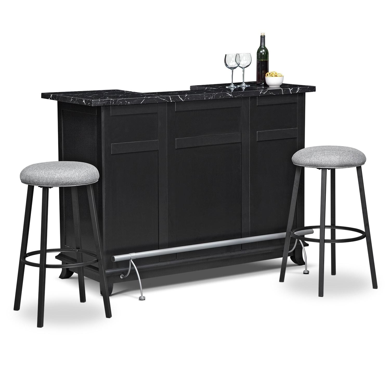 Accent and Occasional Furniture - Pandora 3 Pc. Bar Set