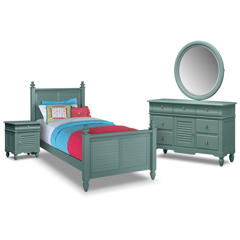 Seaside 6-Piece Twin Bedroom Set - Blue