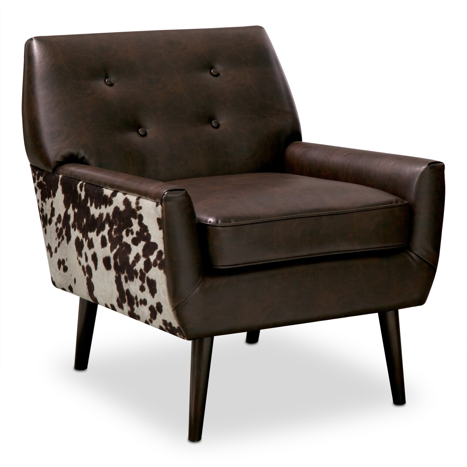 Living Room Furniture - Madeline Chocolate Accent Chair