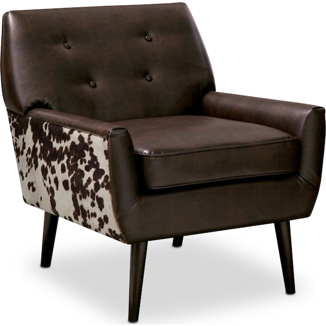 Living Room Furniture - Madeline Accent Chair - Chocolate
