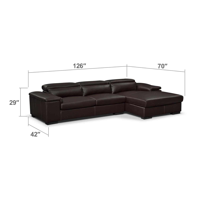 Living Room Furniture - Ventana 2-Piece Right-Facing Sectional - Godiva