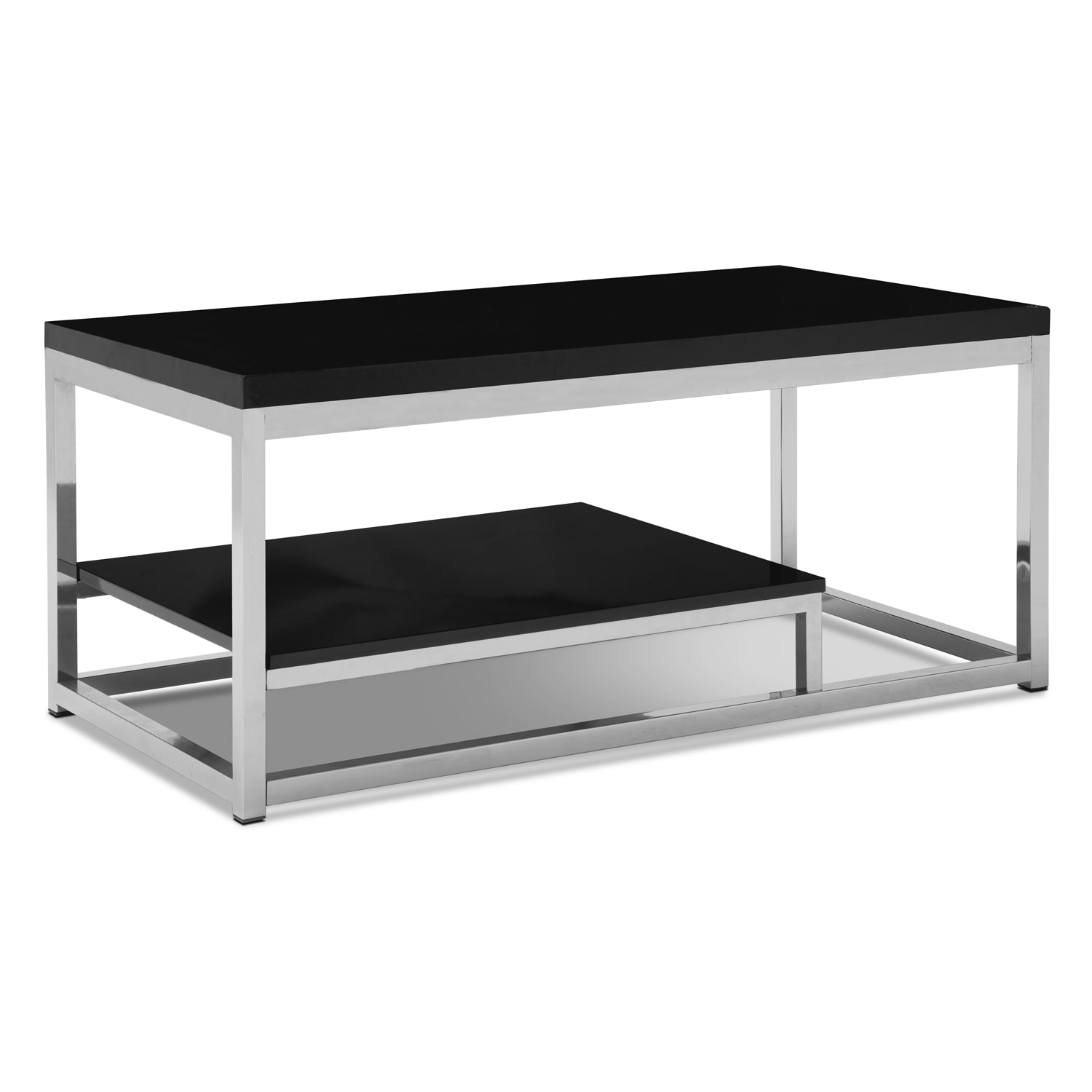 Cielo Cocktail Table - Chrome and Black
