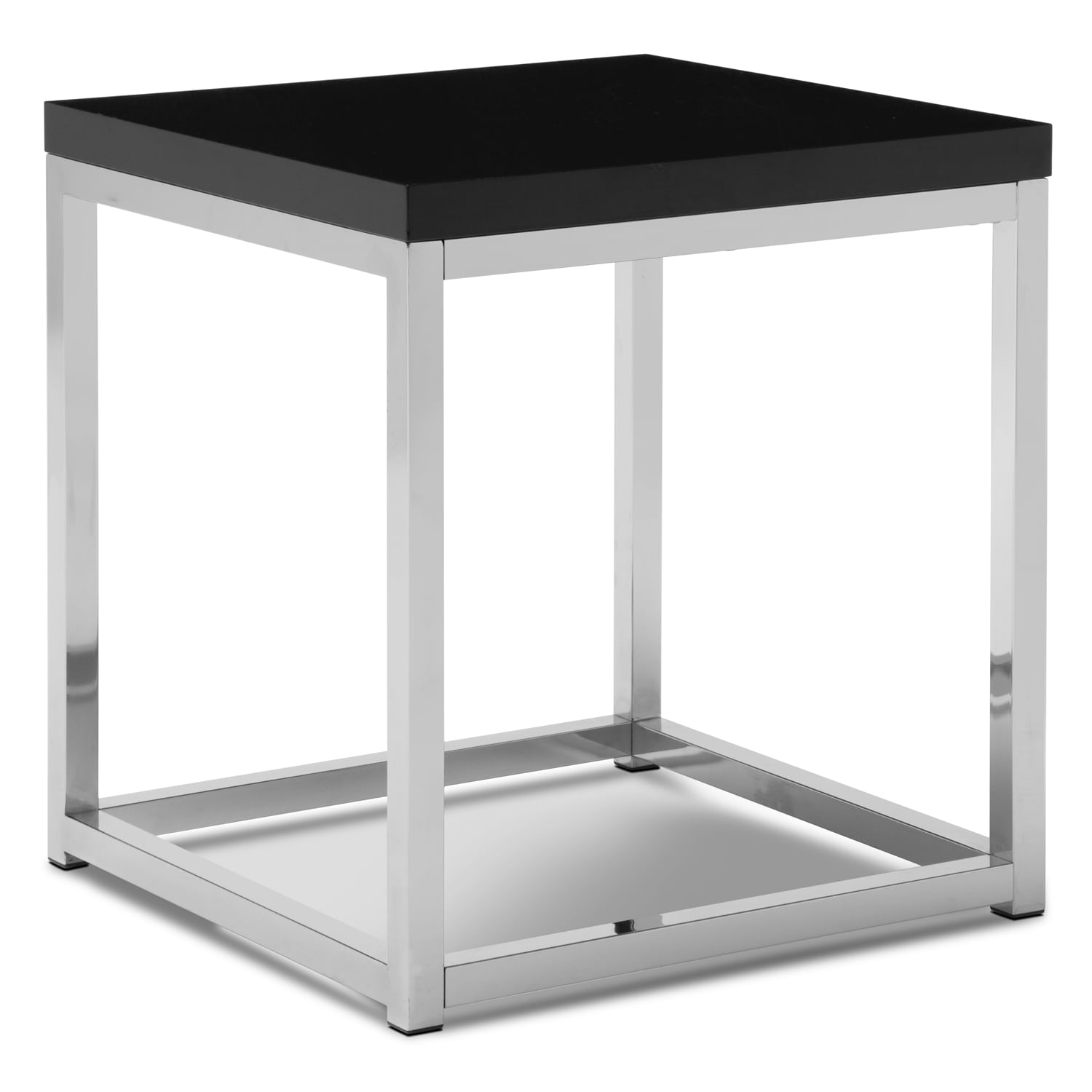 Accent and Occasional Furniture - Cielo End Table - Chrome and Black