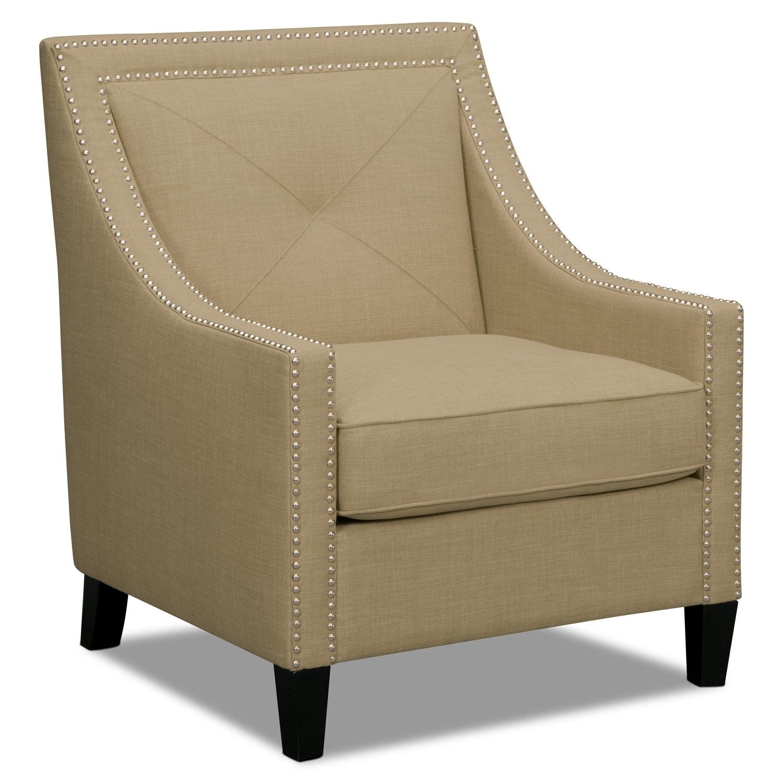 Bedroom Furniture - Cabaret Accent Chair - Beige