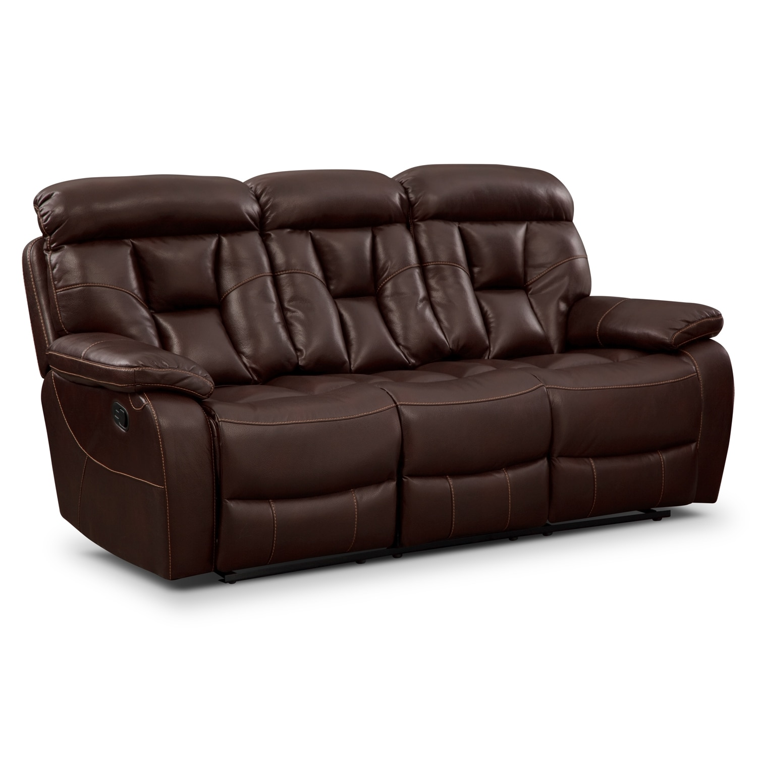 Living Room Furniture - Dakota Reclining Sofa - Java