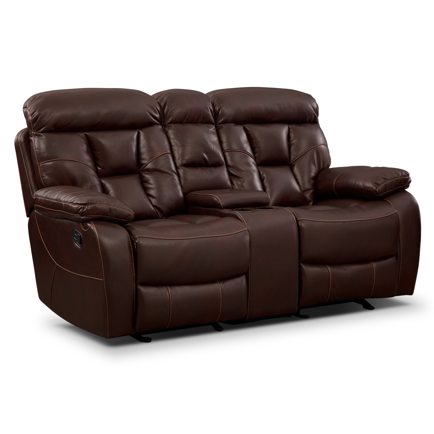 Dakota Gliding Reclining Loveseat with Console - Java