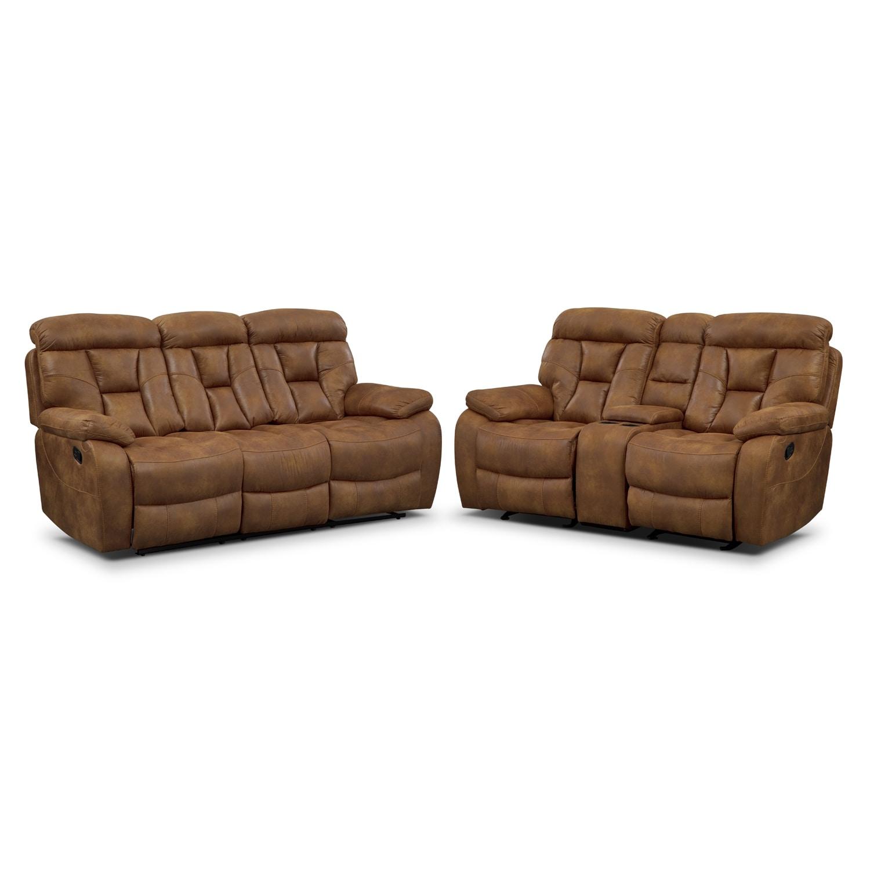 Living Room Furniture - Dakota II 2 Pc. Reclining Living Room