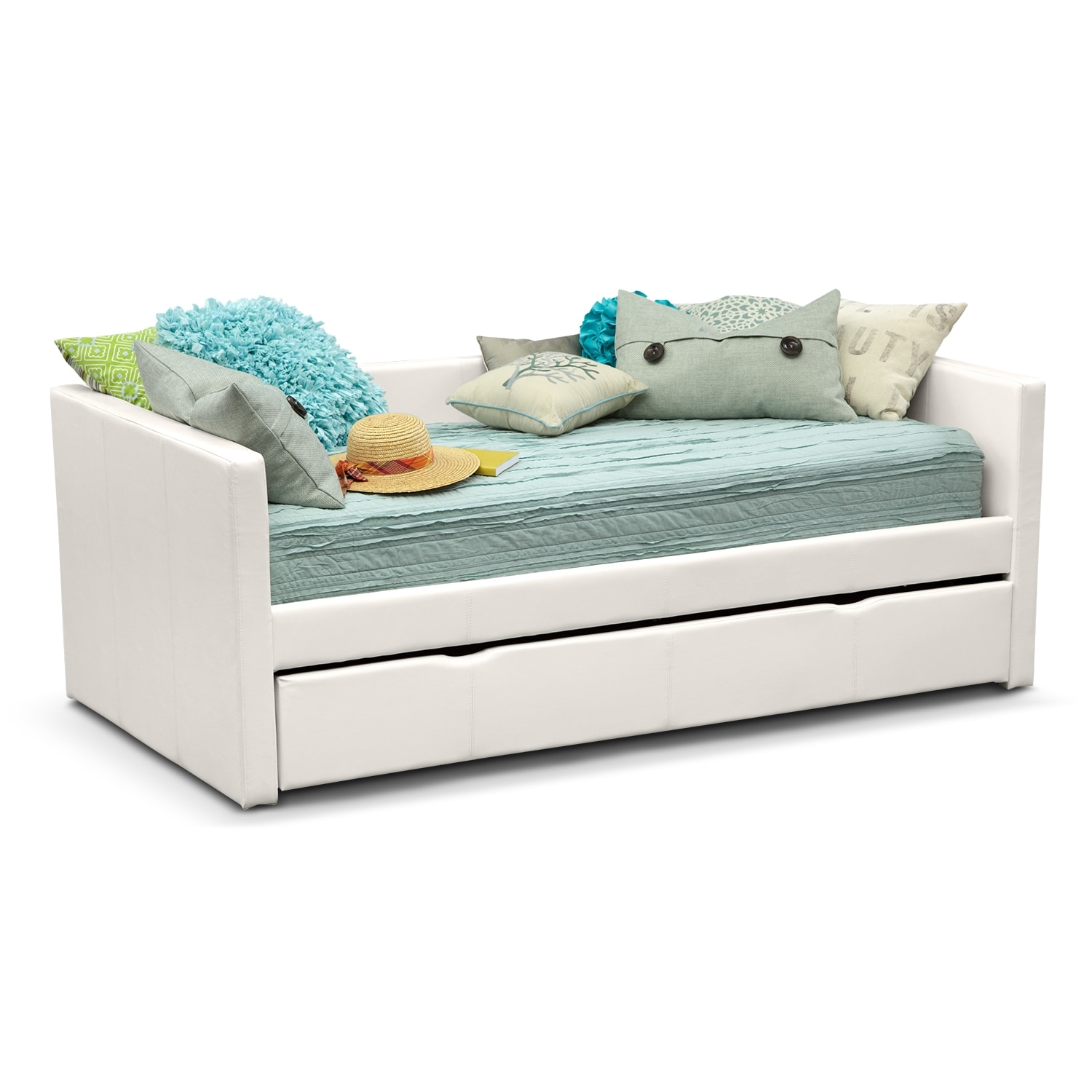 Kids Furniture - Carey White Twin Daybed with Trundle