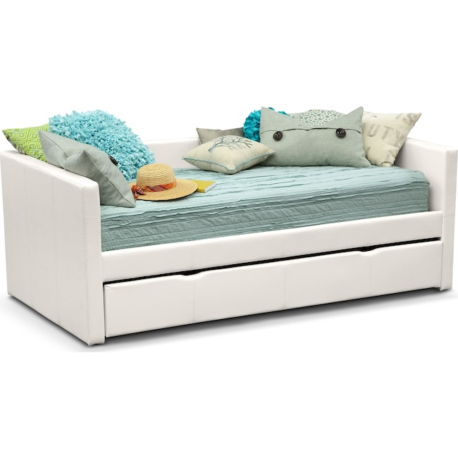 Kids Furniture - Carey Twin Daybed with Trundle - White