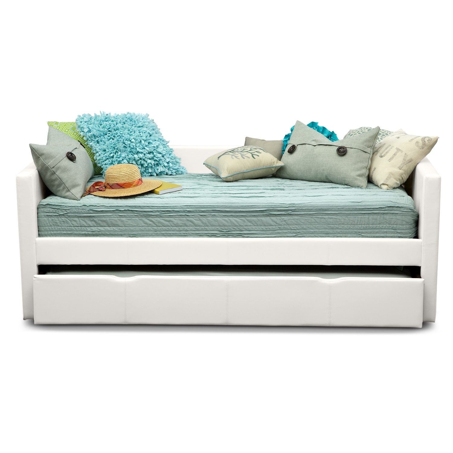 Carey Twin Daybed With Twin Twin Trundle White