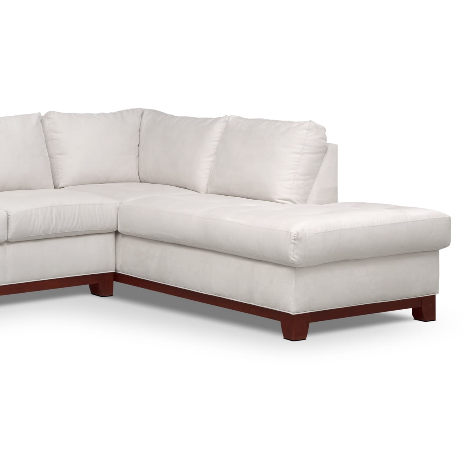 Soho 2 Piece Sectional with Right Facing Chaise Cement