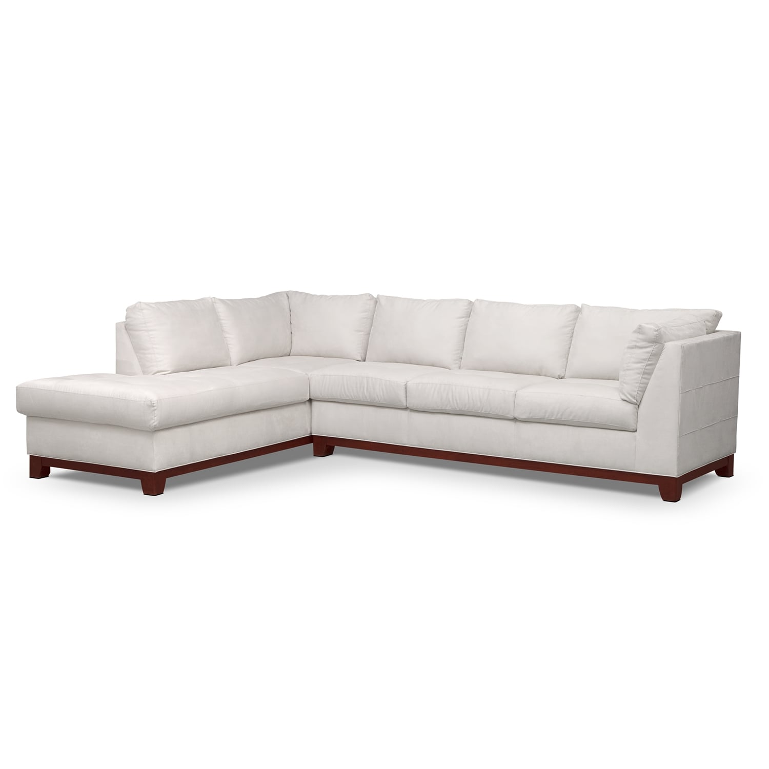 Soho 2 piece sectional with left facing chaise cement for 2 piece sectional sofa with chaise