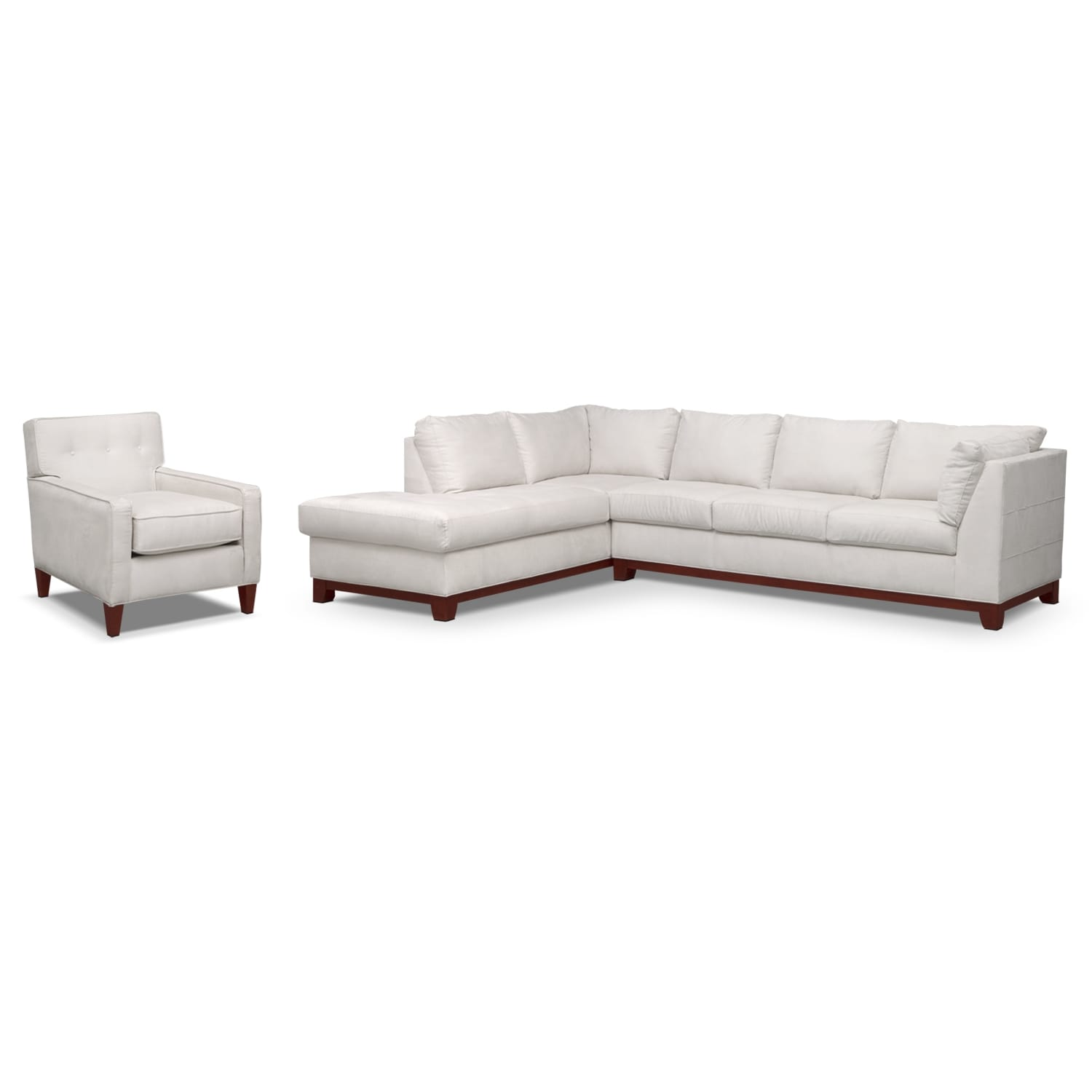 Soho 2-Piece Sectional with Left-Facing Chaise and Chair - Cement