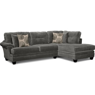 Cordelle 2-Piece Sectional with Right-Facing Chaise - Gray