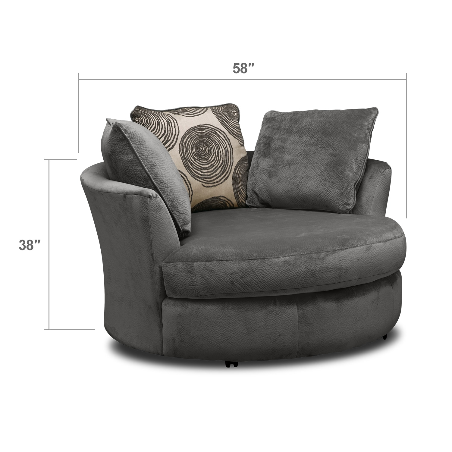 Cordelle Swivel Chair Gray American Signature Furniture