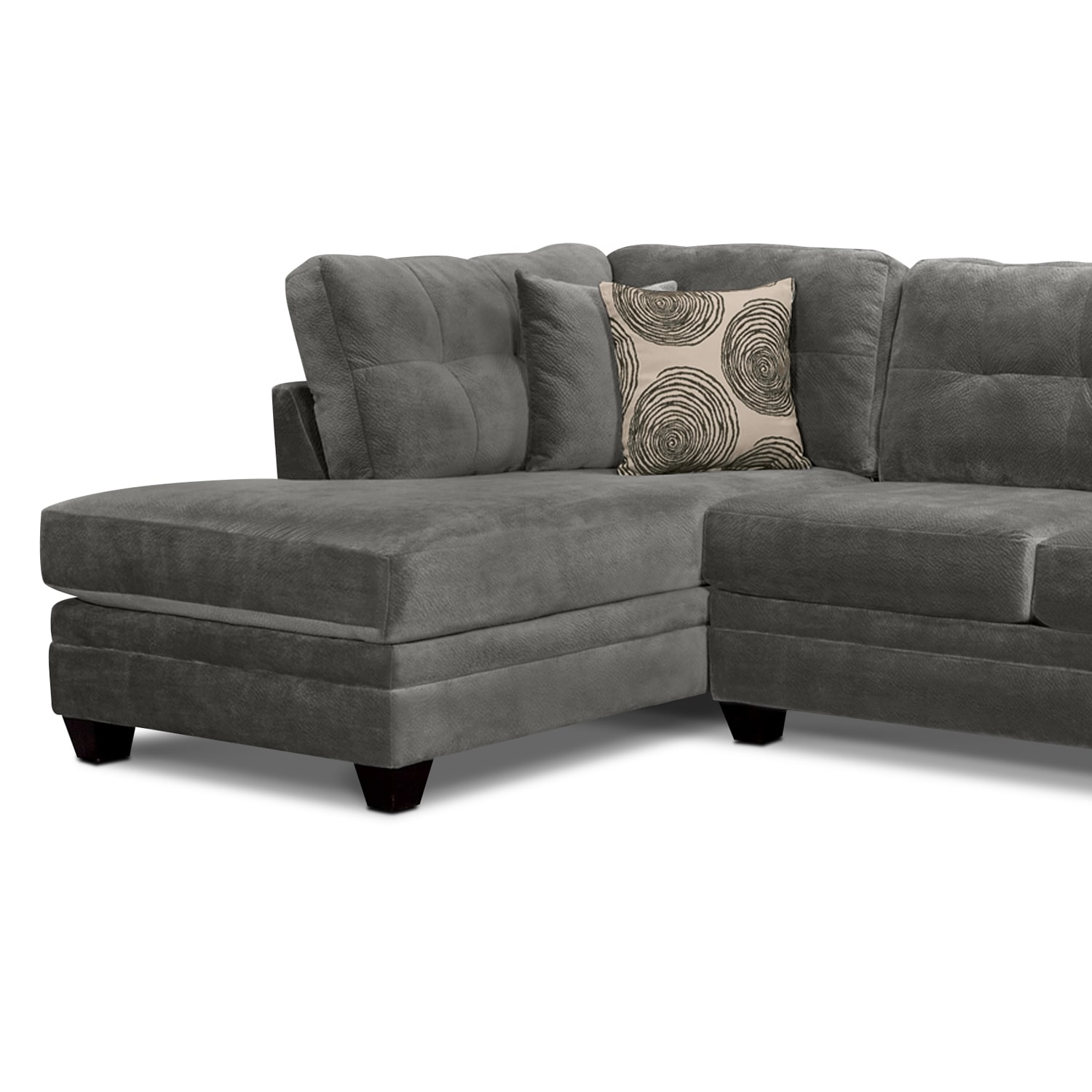 item performance with number couch nuvella gray products benchcraft kirwin sectional chaise in right