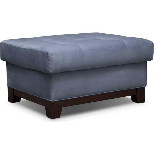 Living Room Furniture - Soho Ottoman - Steel