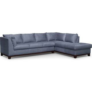 Soho 2-Piece Sectional with Right-Facing Chaise - Steel
