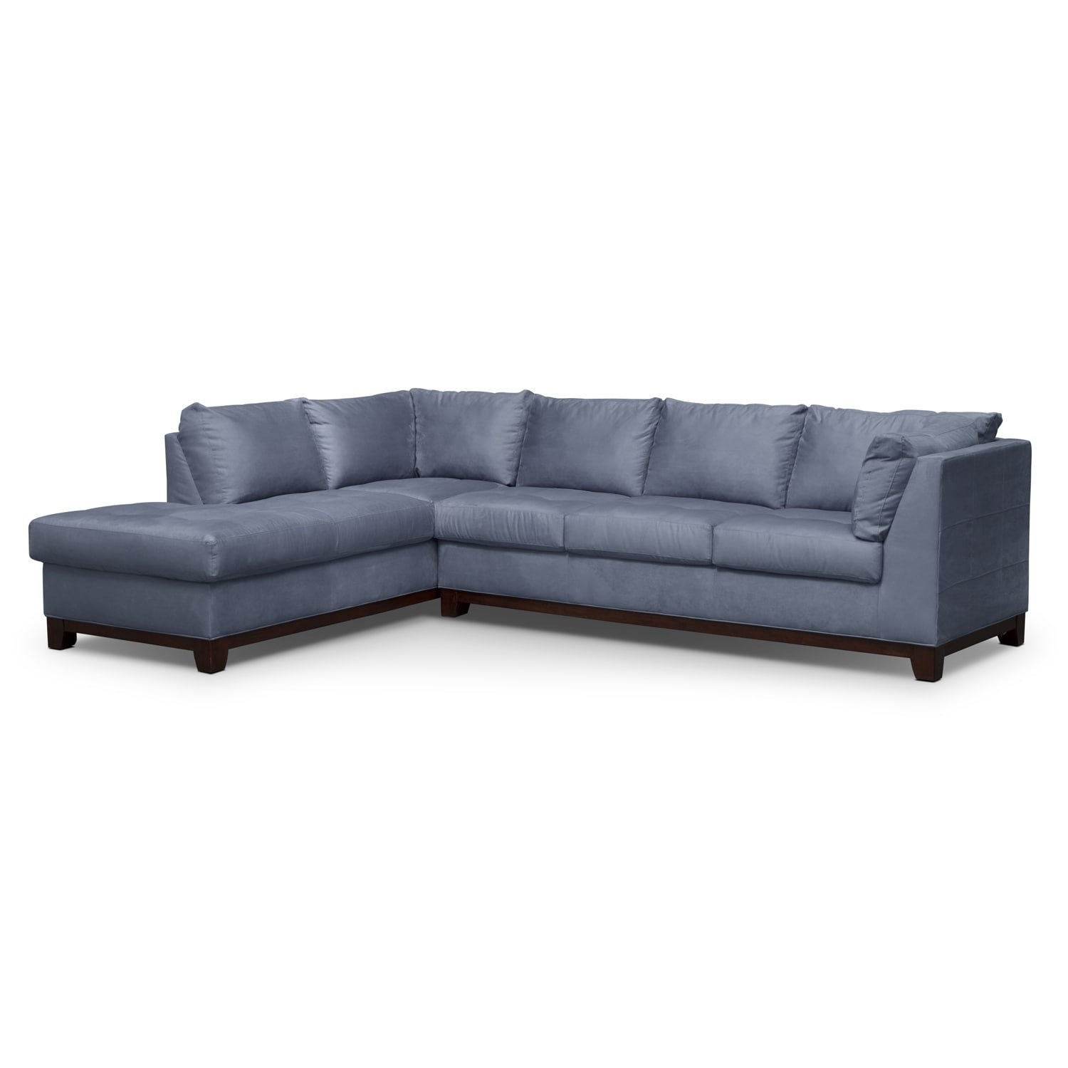 soho piece sectional with leftfacing chaise  steel by kroehler. soho piece sectional with leftfacing chaise  steel  american