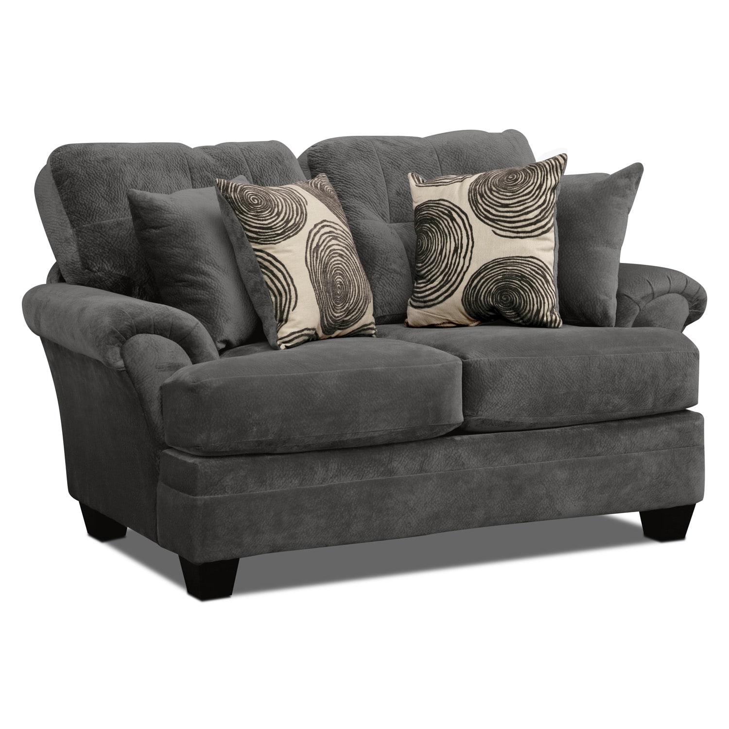 Cordelle Sofa And Loveseat Set Gray American Signature Furniture ~ Grey Sofa And Loveseat Sets