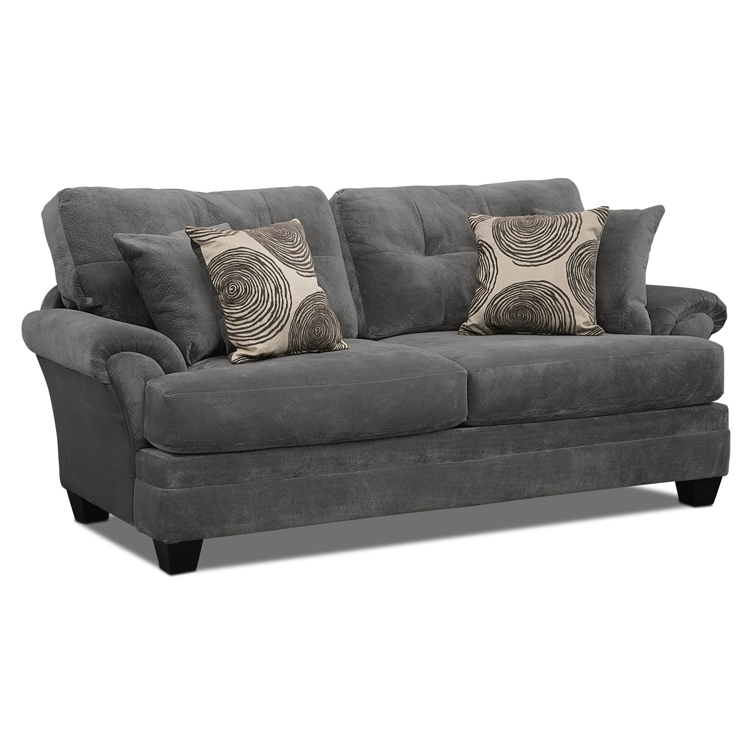 Cordelle sofa gray american signature furniture for Signature furniture