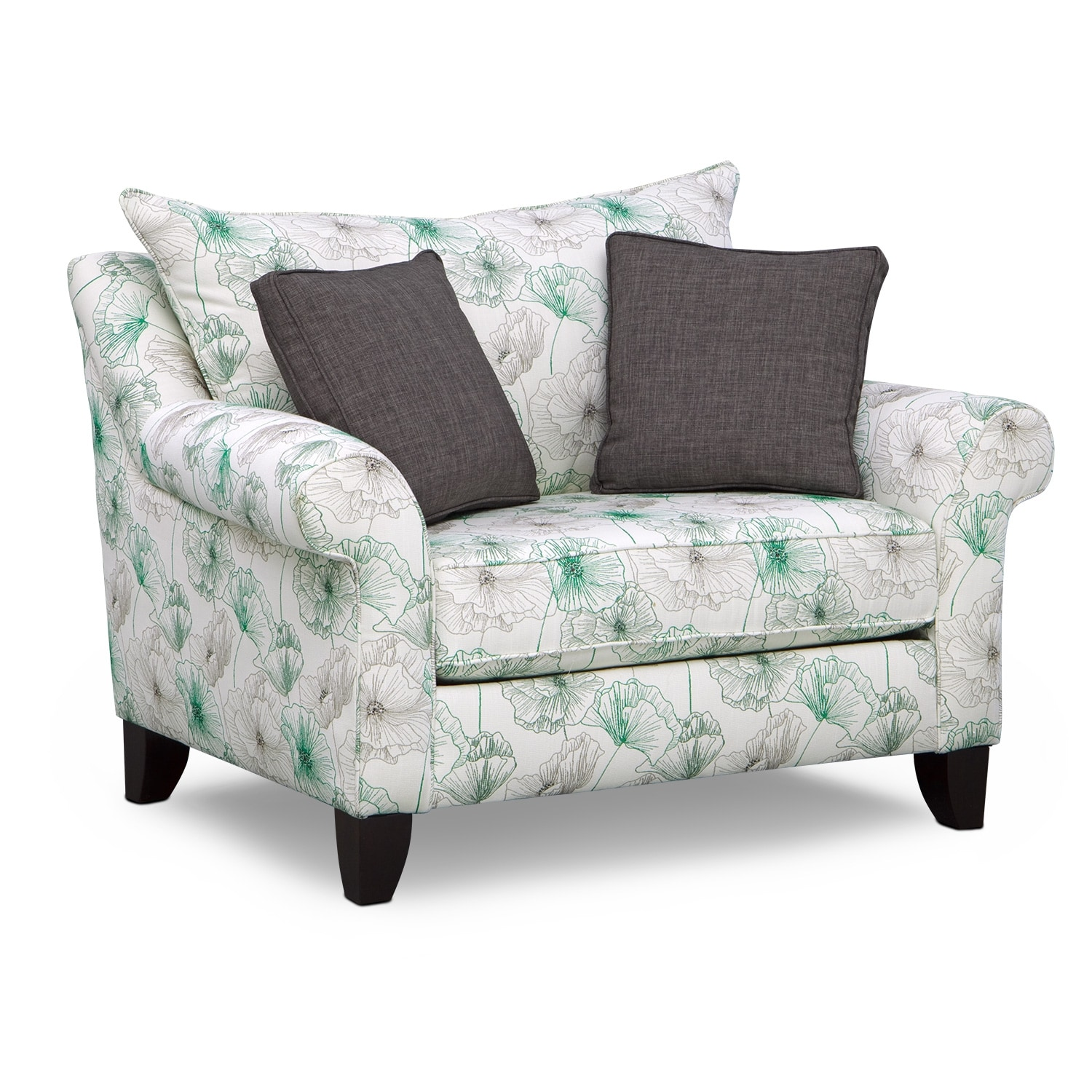 Living Room Furniture - Jasmine Chair and a Half