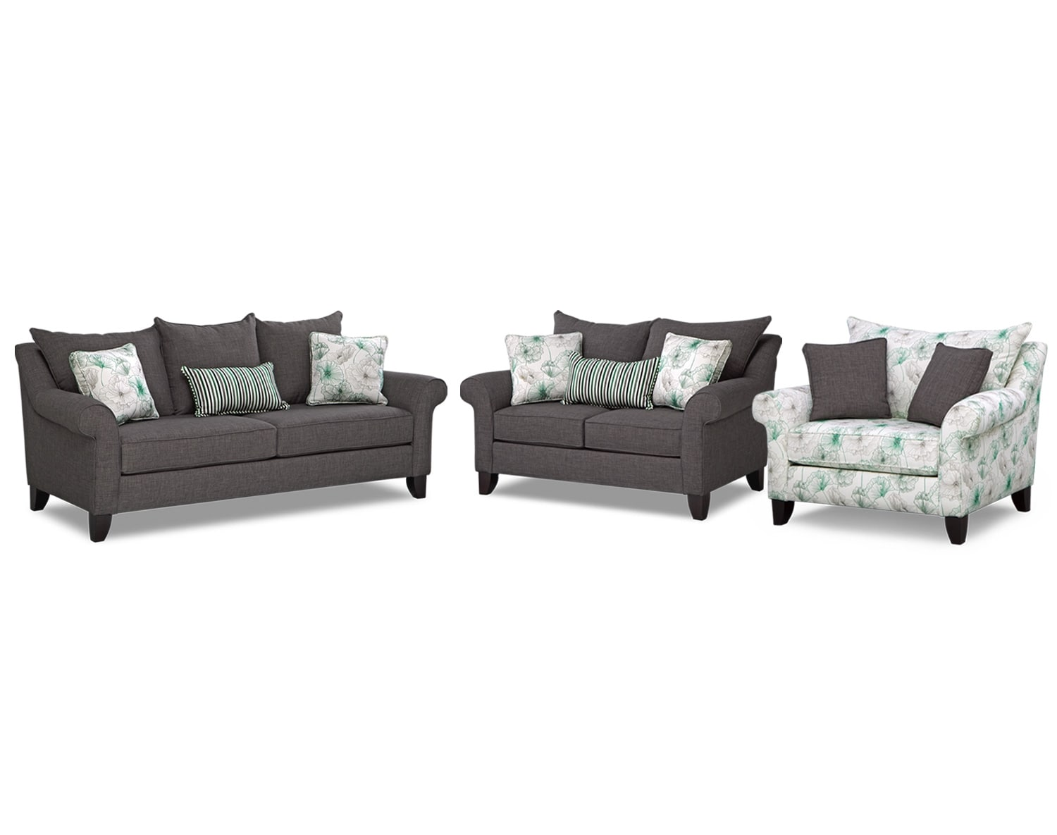 The Jasmine Collection - Charcoal