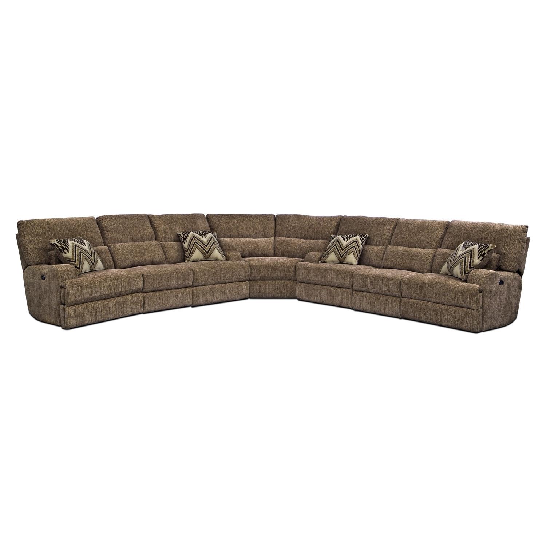 Living Room Furniture - Sundance 3 Pc. Power Reclining Sectional (Alternate)