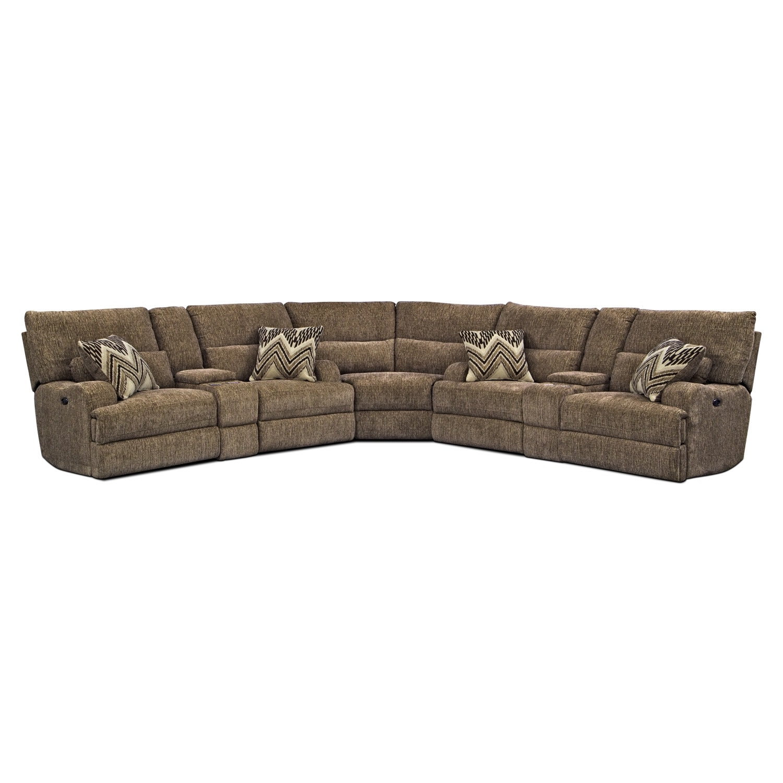 Living Room Furniture - Sundance 3 Pc. Power Reclining Sectional (Alternate II)