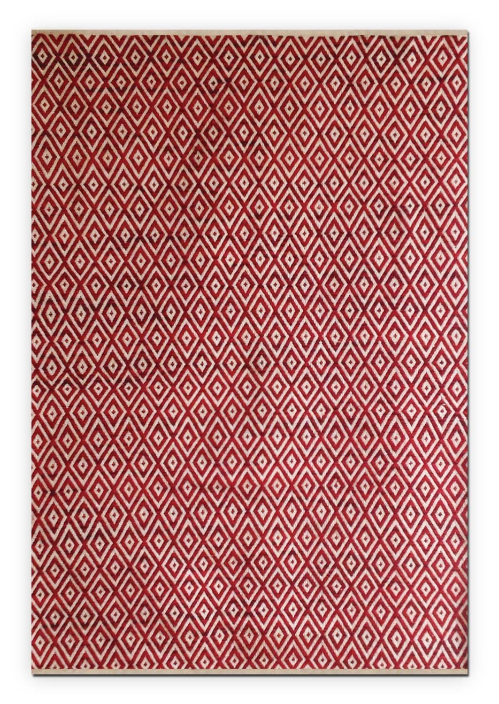 Rugs - Vintage Red Diamonds Area Rug (8' x 10')