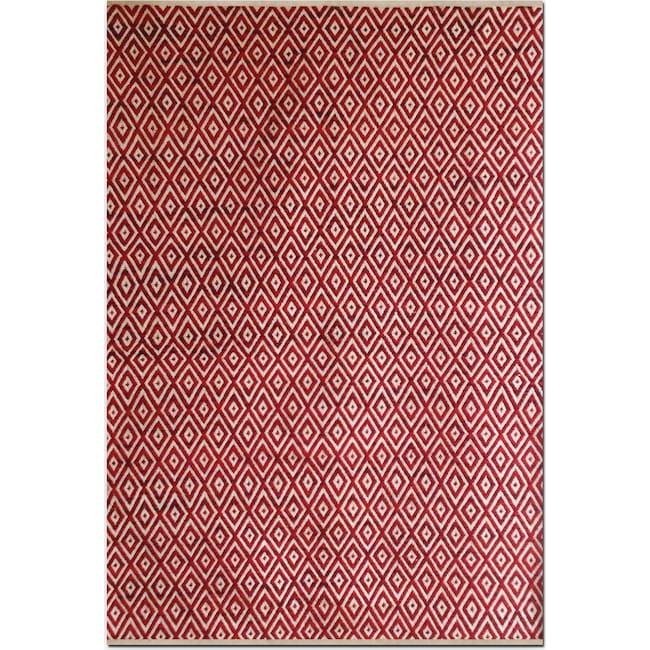 Rugs - Vintage Red Diamonds Area Rug (8' x 10')