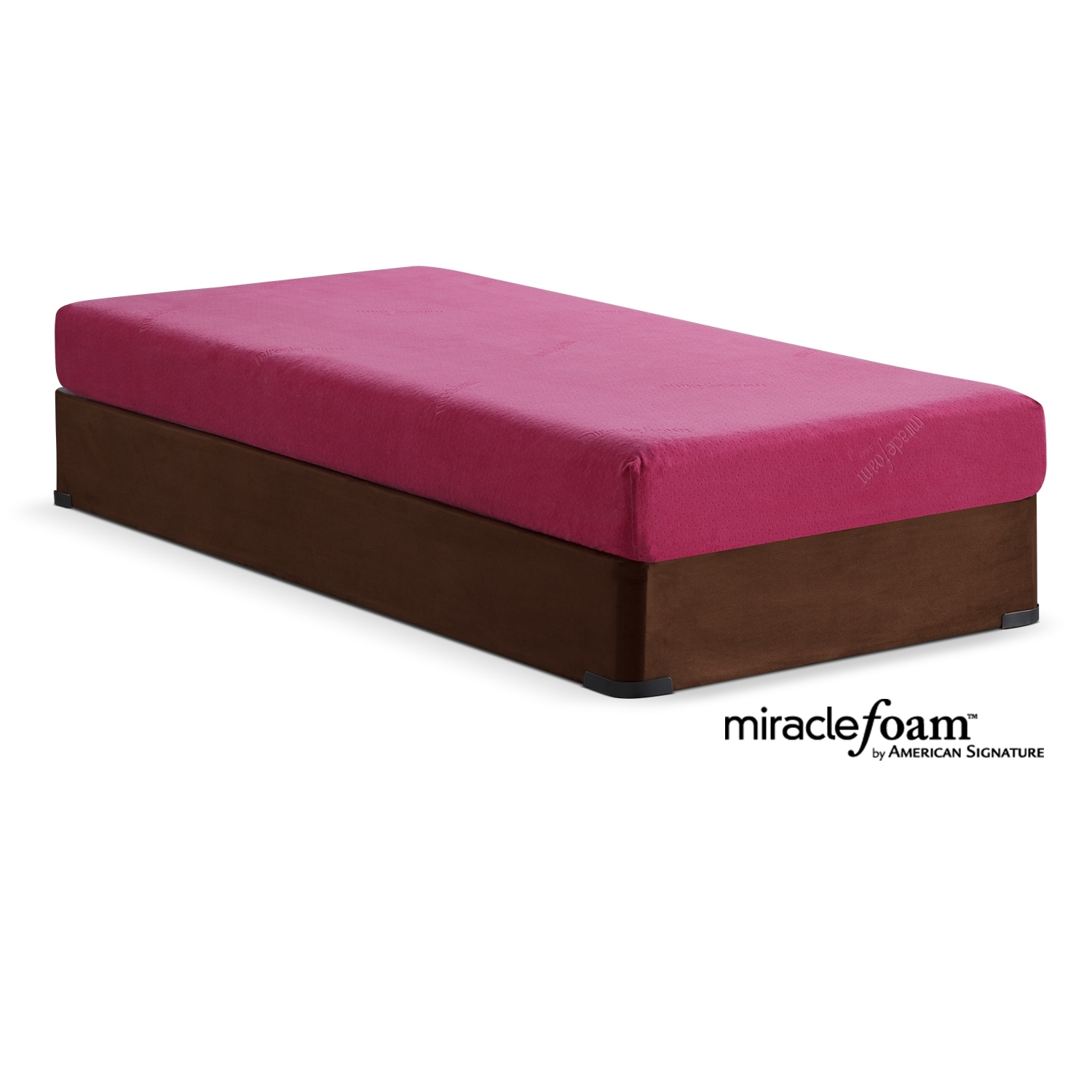 Renew Pink Twin Mattress and Foundation Set