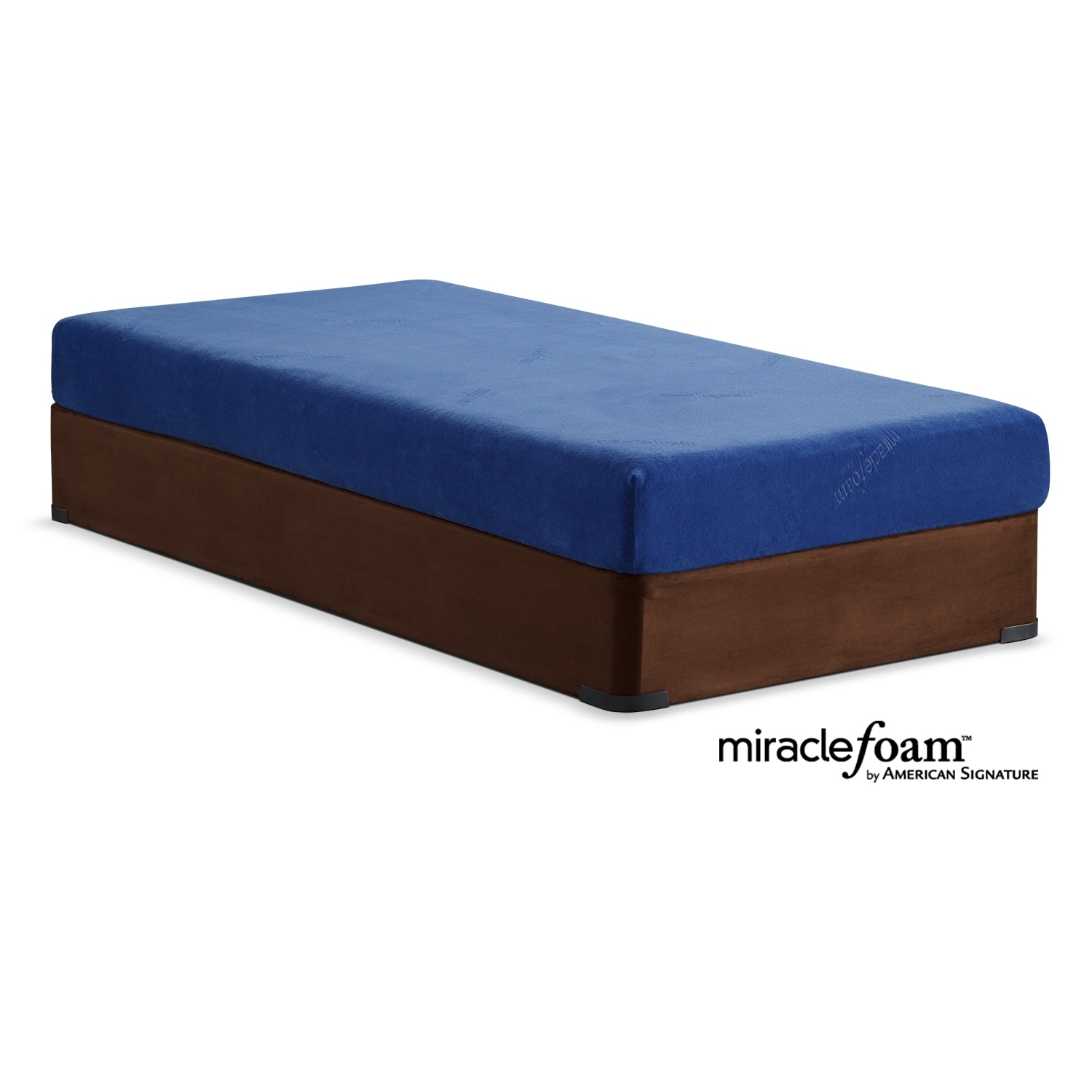 Mattresses and Bedding - Renew Blue Twin Mattress and Foundation Set