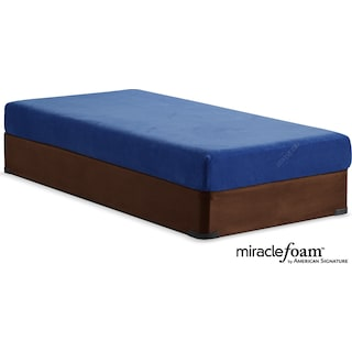 Renew Blue Medium Firm Twin Mattress and Foundation Set - Blue