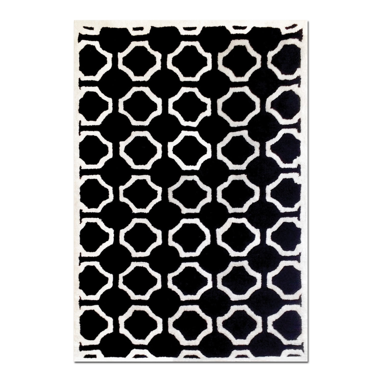 Rugs - Lifestyle Black Semi-Circle Area Rug (5' x 8')