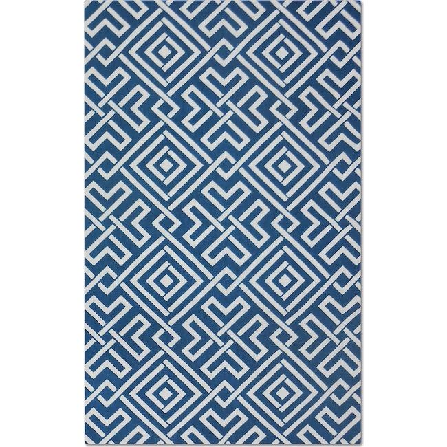 Rugs - Salon Zigzag 5' x 8' Area Rug - Blue