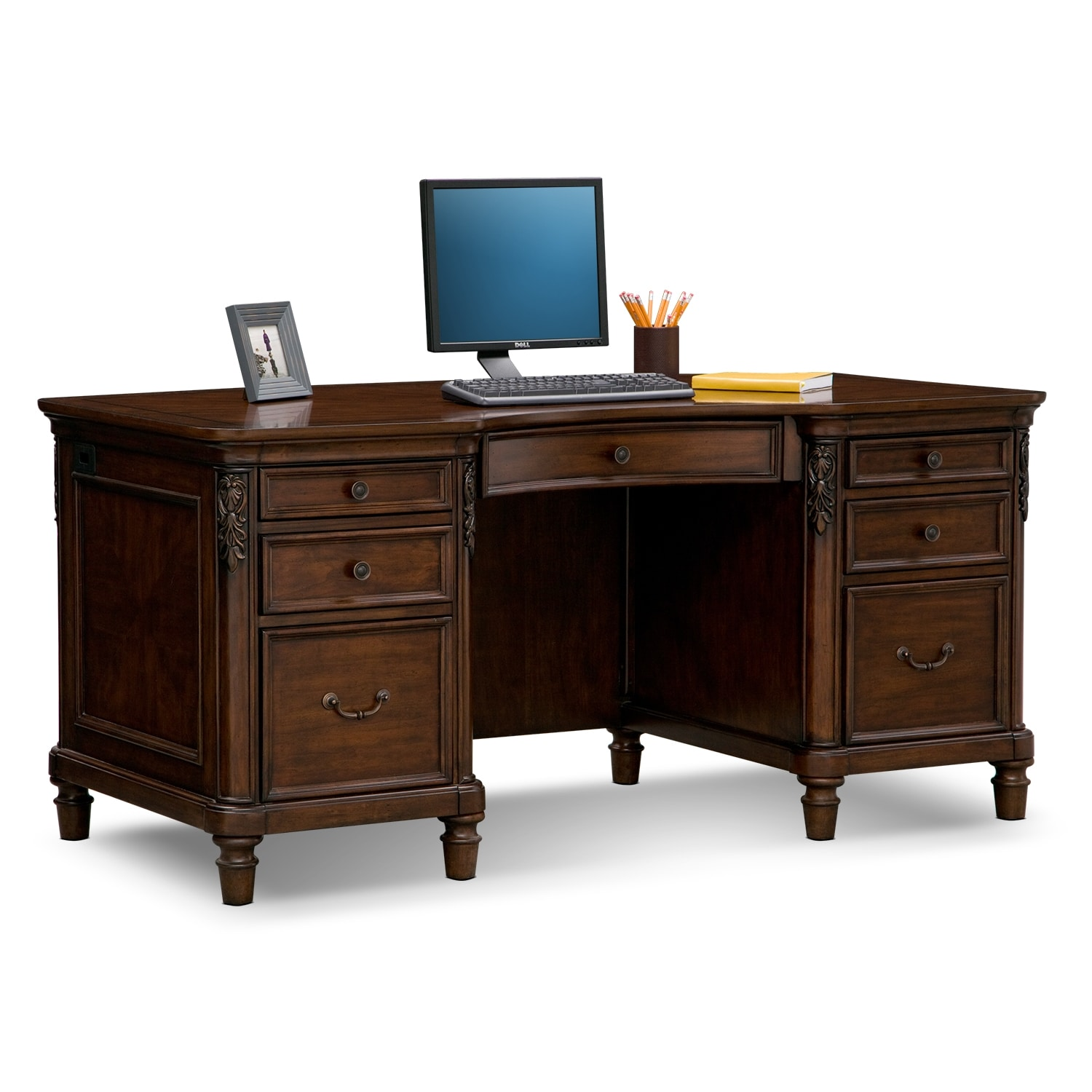Ashland Executive Desk   Cherry By American Signature. Home Office Furniture  ...