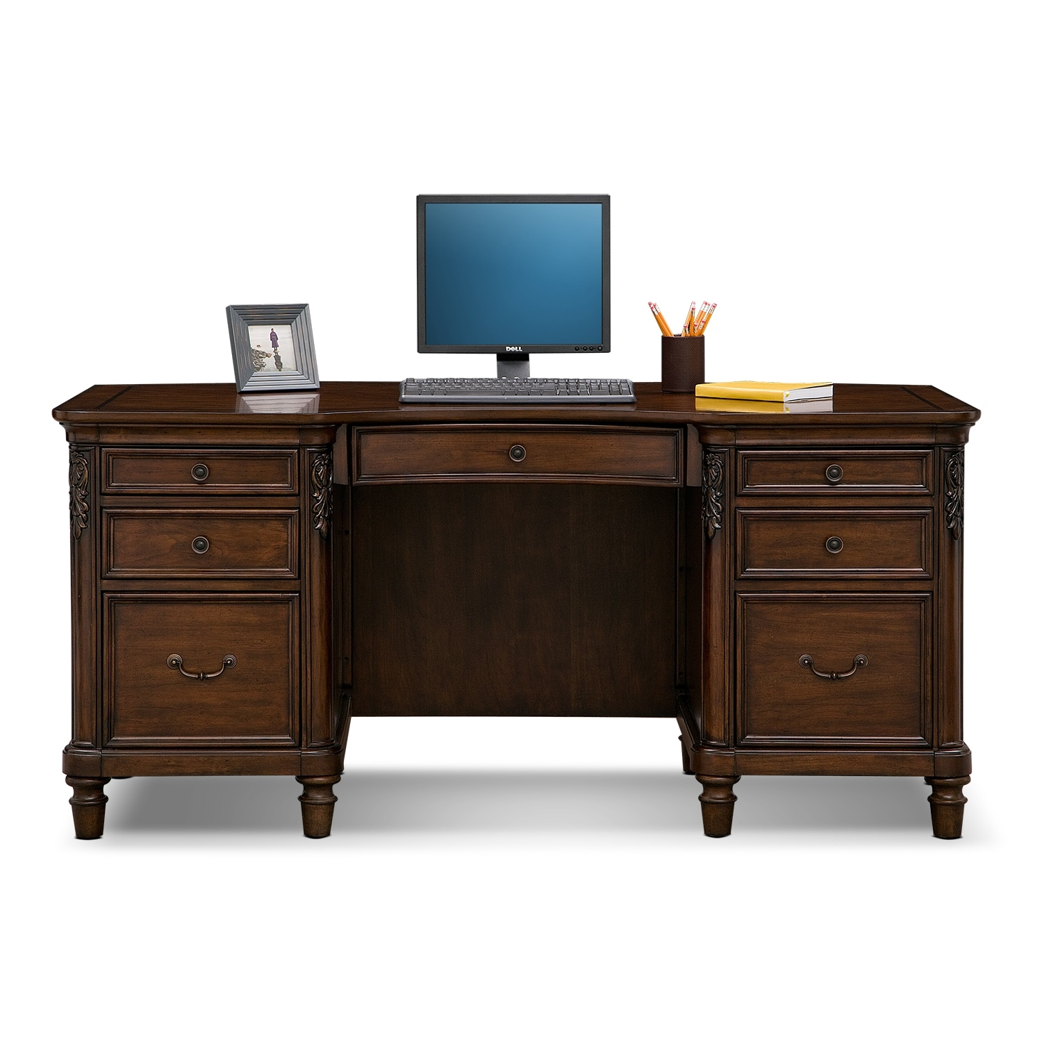 Ashland Executive Desk Cherry American Signature Furniture