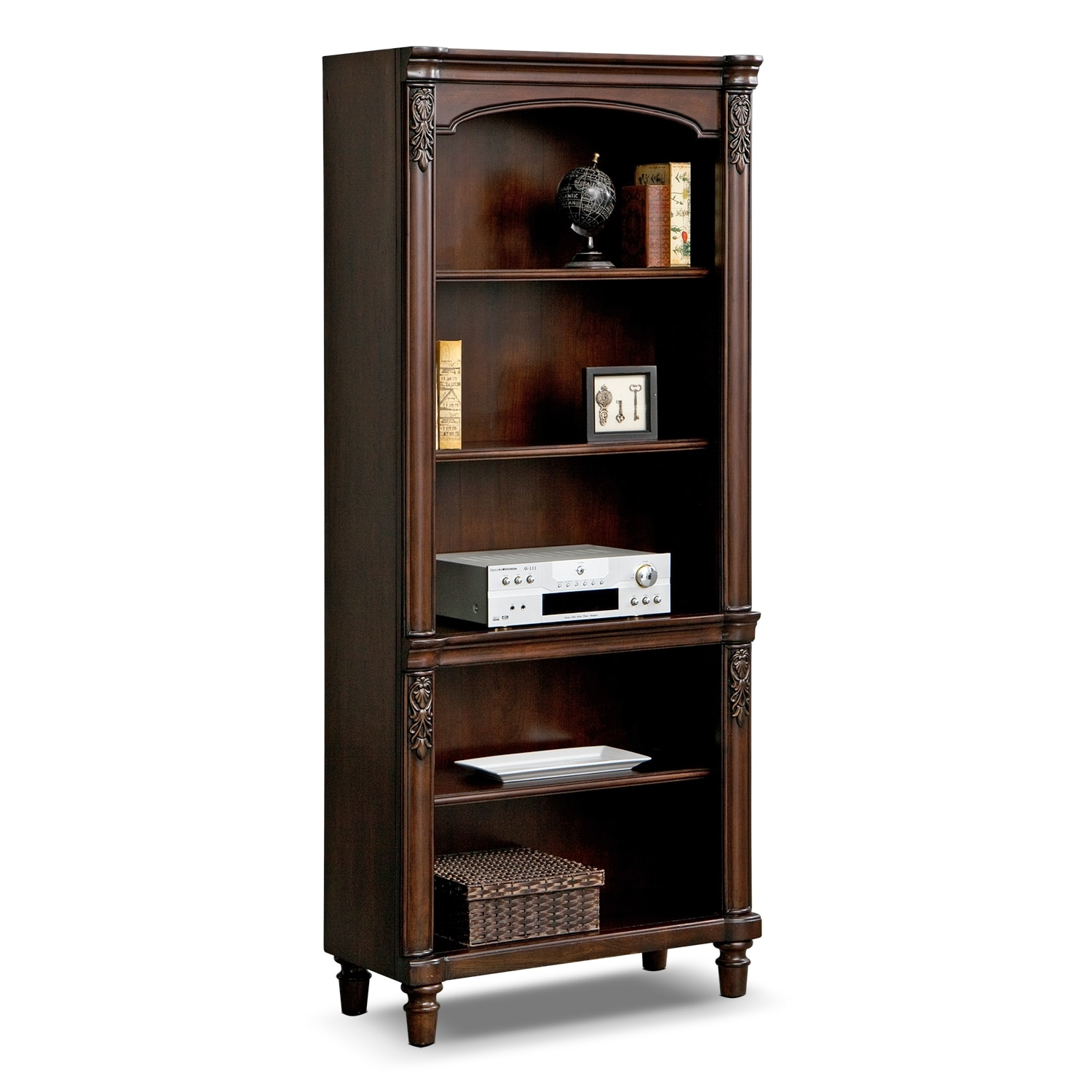 Bookcases living room storage cabinets american signature furniture - Small space bookshelf collection ...